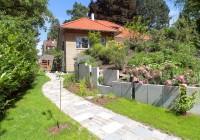Endter Architektur nach energetischer Sanierung: alte Villa, Hangseite