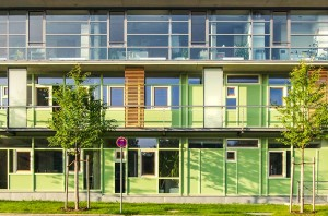 Endter Architektur im öffentlichen Bau: Neubau eines Amtsgebäude bei München, Fassadendetails