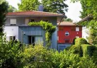 Endter Architektur im Wohnungs- und Hausbau: ökologischesReihenhaus, Südansicht